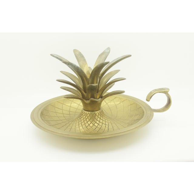 Image of Brass Pineapple Candle Holder