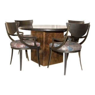 Granite & Copper Dining Set