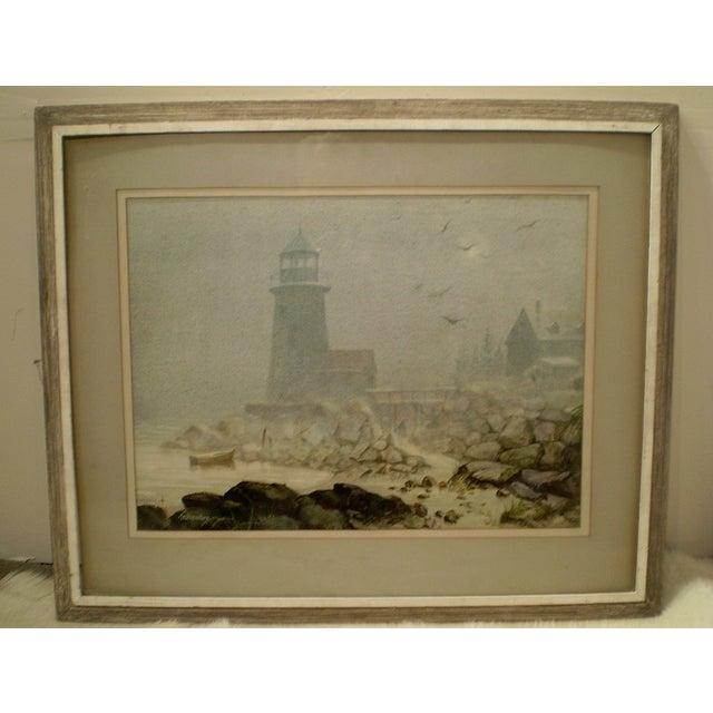 Image of Annisquam Lighthouse Cape Ann Watercolor