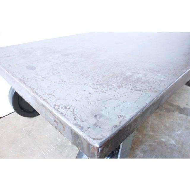Industrial Metal Coffee Table - Image 7 of 7