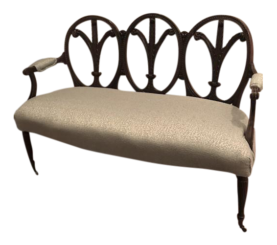 oval back antique settee