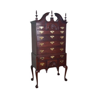 "Henkel Harris ""Spnea"" Ball & Claw Foot Chippendale Mahogany Highboy"