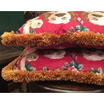 Image of Staffordshire St Charles Spaniel Pillows - A Pair
