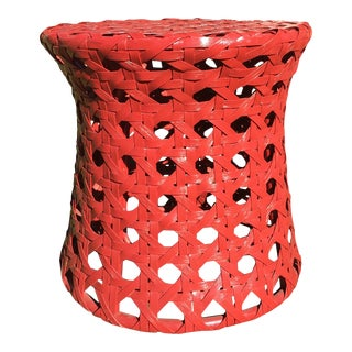 Palecek Woven Red Side Table