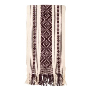 Mexican Boho Chic Cotton Woven Geometric Pattern Table Runner