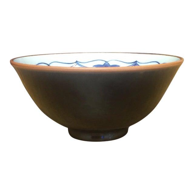Small Vintage Porcelain Japenese Blue & White Decorative Imari Bowl - Image 1 of 4