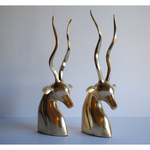 Image of Mid Century Kudu Bookends