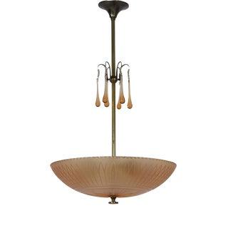 Orrefors Ceiling Lamp by Simon Gate, 1930s