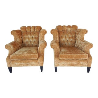 EJ Victor - Carol Hicks Bolton Tufted Wing Back Accent Chairs - Pair