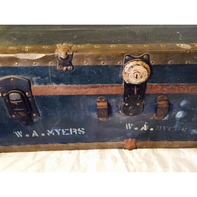 Antique Original WWII Seabees Trunk - Image 3 of 5