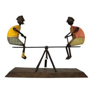 Mid Century Children on See Saw Sculpture by Manuel Felguerez