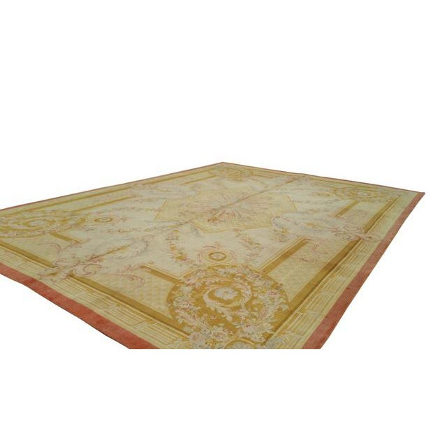14'x19' Traditional Savonnerie Hand Made Knotted Rug - Size Cat. 12x18 13x20 - Image 3 of 6