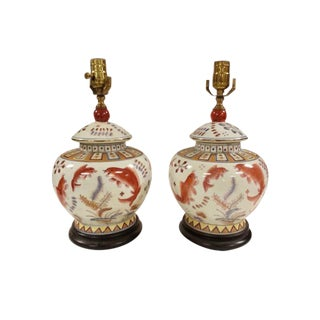 Chinese Porcelain Jar Lamps - A Pair