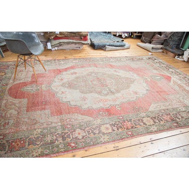 "Distressed Oushak Carpet - 7'6"" X 12'6"" - Image 8 of 10"