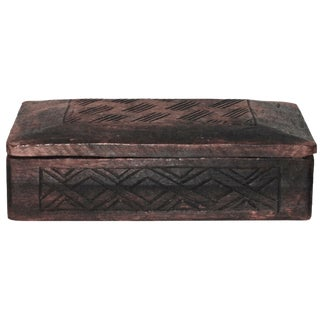 Carved African Storage Box