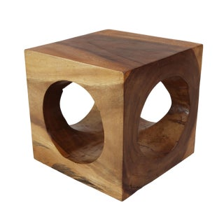 Modern Cube Hole Stool/Side Table