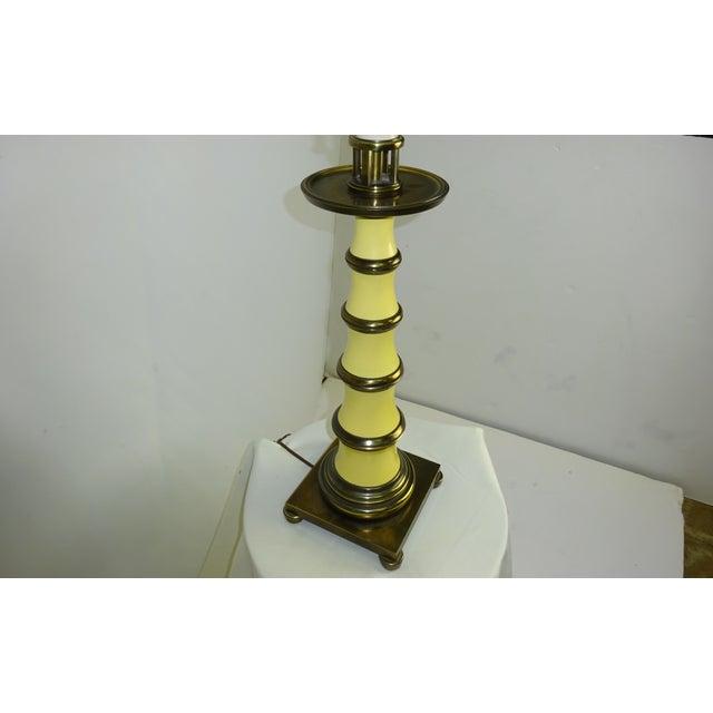 Circa 1960 Faux Bamboo Enamel Table Lamp - Image 6 of 9