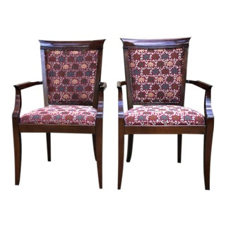 Vintage Councill Upholstered Arm Chairs - a Pair
