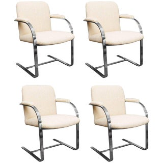 Set of Four Roche Bobois Brno Style Armchairs