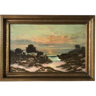 1931 S. Halls Monterey Sunset Oil Painting