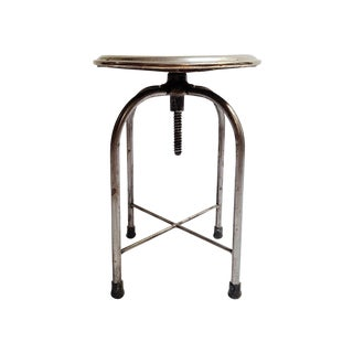Antique 1930s Industrial Stool
