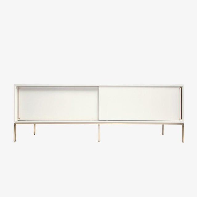 Customizable Re: 379 Grass Green Lacquered Credenza on Brass base - Image 9 of 9