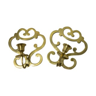 Mid-century Brass Wall Sconces