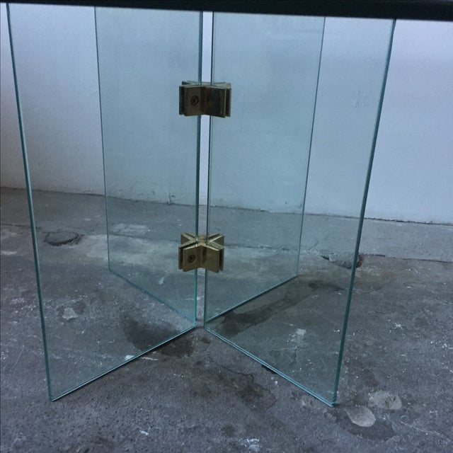 Leon Rosen Pace Collection Glass Coffee Table - Image 7 of 10