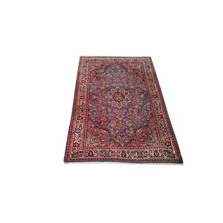 4′1″ × 6′7″ Persian Sarouk Knotted Rug - Size Cat. 4x6