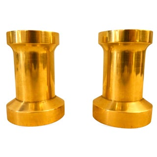 Heavy Brass Billet Candleholders