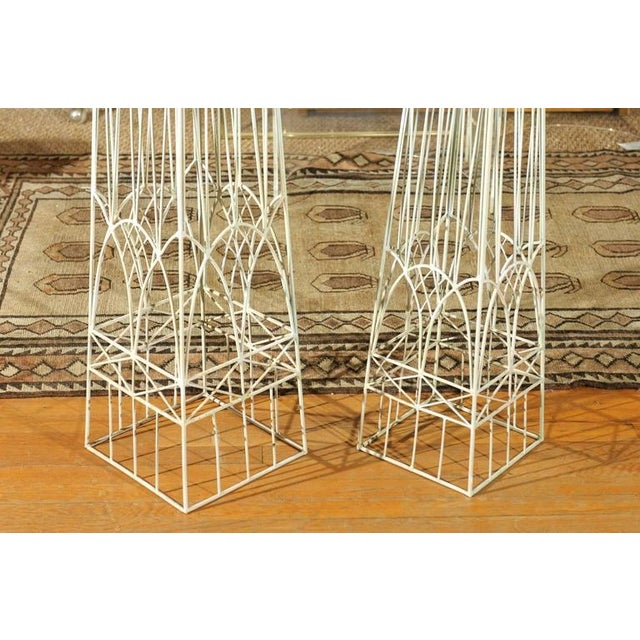 White Garden Obelisks - A Pair - Image 6 of 8
