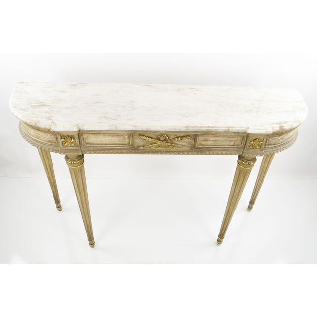 Marble-Topped French Style Console Table - 1940s - Image 8 of 8