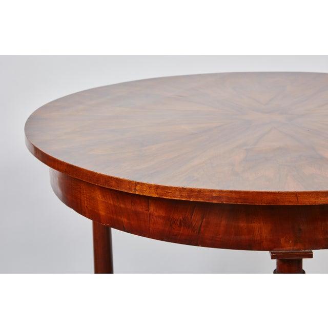 Italian Empire Deep Brown Walnut Center Table - Image 3 of 9