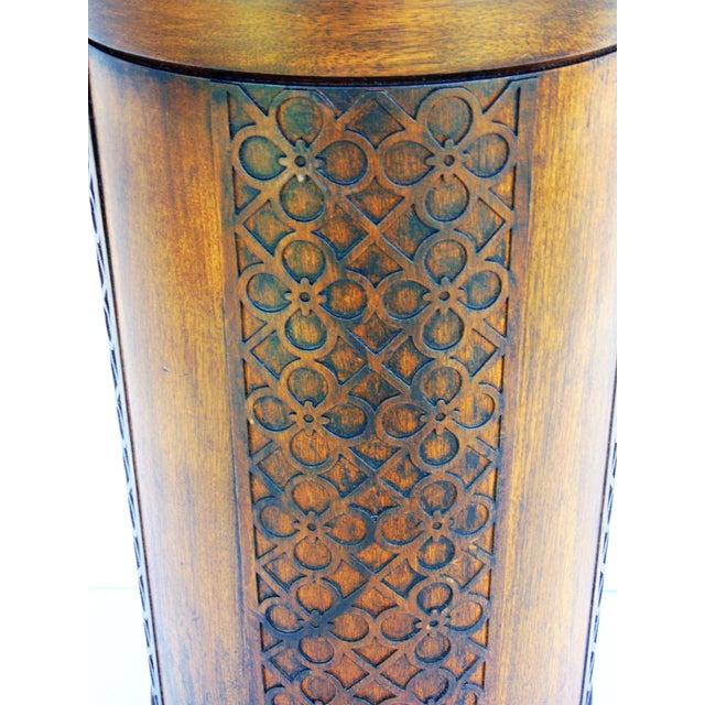 Mid-Century Mahogany Fretwork Lamp - Image 3 of 5