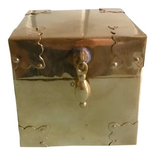 Vintage Square Brass Box