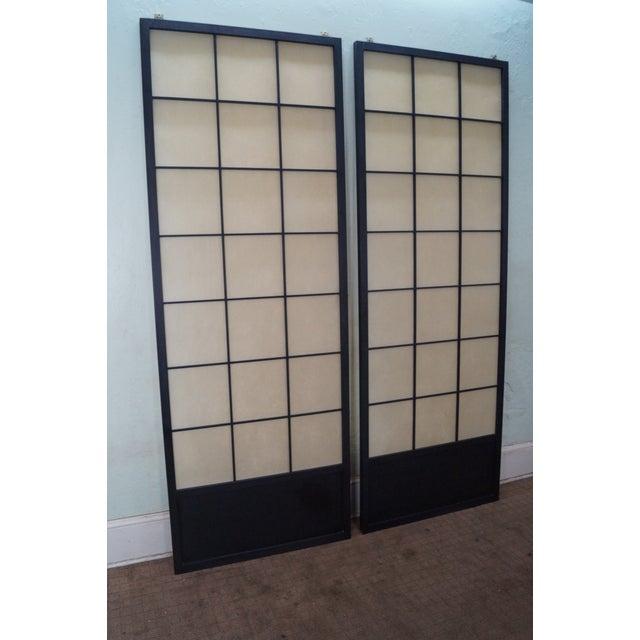 Vintage Japanese Shoji Sliding Doors - A Pair - Image 3 of 10