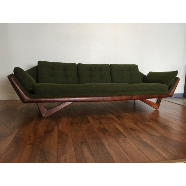 Adrian Pearsall Craft Associates Mid-Century Gondola Sofa - Image 5 of 11