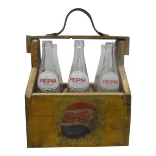 Vintage Pepsi Bottles - Set of 6