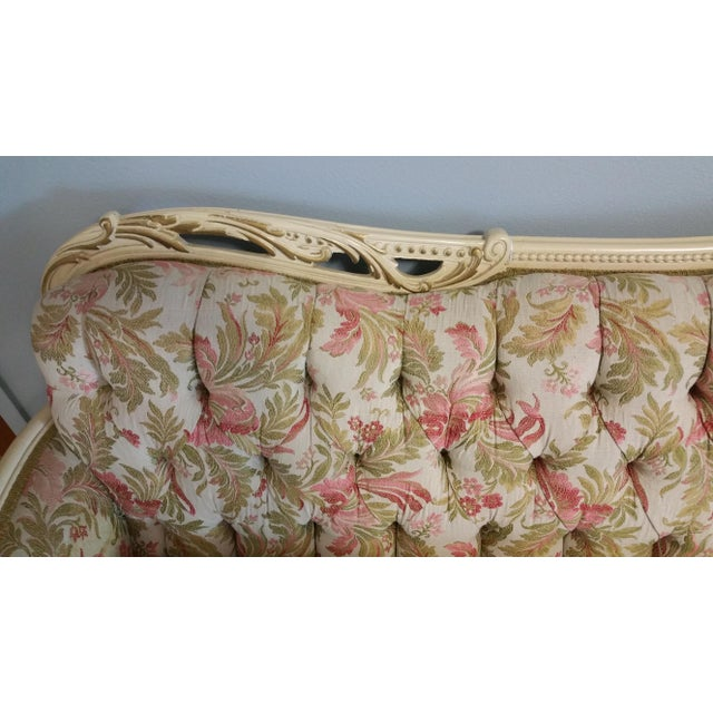 Vintage French Style Tufted Sofa- Corner Available 3 Pcs - Image 6 of 10