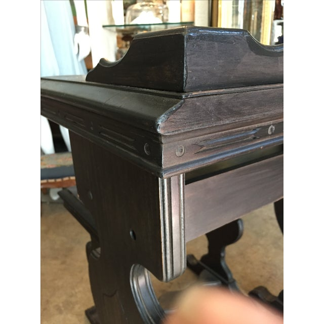 Vintage Writing Desk and Nesting Bench - Image 6 of 11