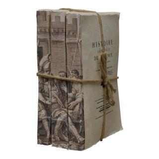 """Vintage Sarreid Ltd """"Brutus"""" Books- Set of 3"""