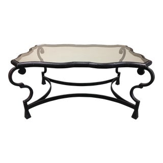 Cast Iron and Glass Sculptural Cocktail Table