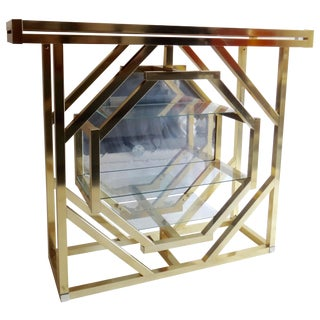 Brass Pivoting Octagon Display Bar