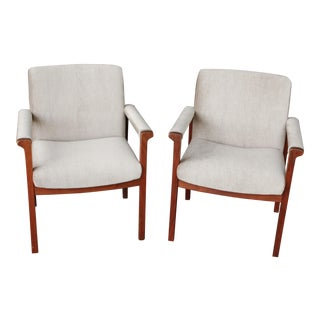 Mid-Century Mohair Side Chairs - A Pair