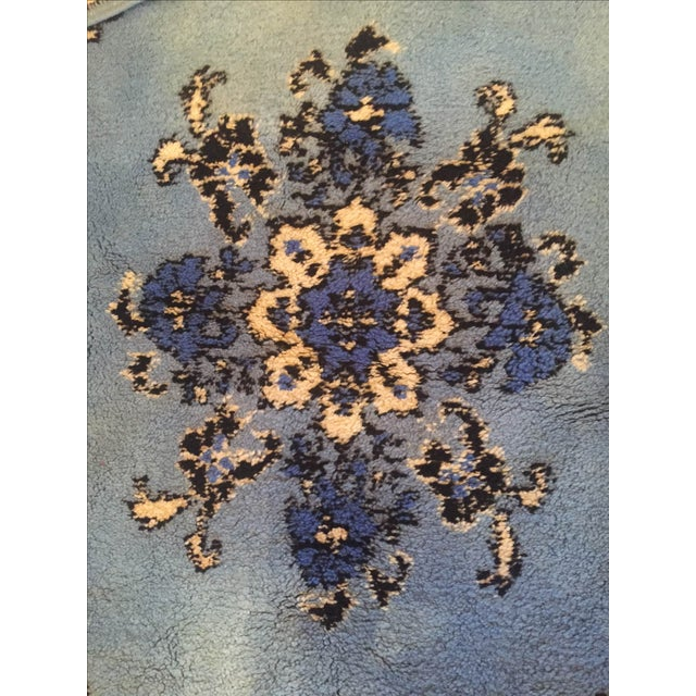 Large Blue Moroccan Rug - 4' x 6' - Image 6 of 9