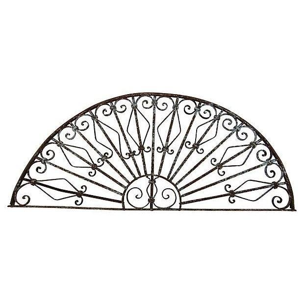 Mediterranean Architechtural Wrought Iron Arch - Image 1 of 6