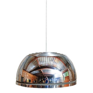 Lightolier Chrome Pendant Lamp