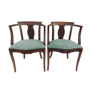Antique French Petite Ladies Chairs - A Pair