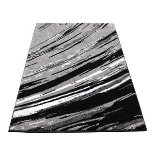 STRIATED STRIPES RUG GRAY 5'3''X 7'7''