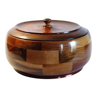 Lidded Wooden Bowl